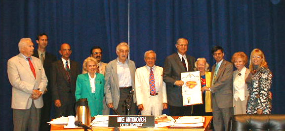 Honored guests at the Superman Week Ceremony, July 10, 2001
