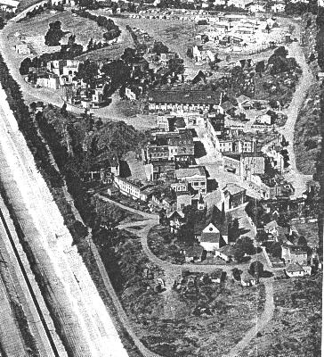 Aerial view of Forty Acres