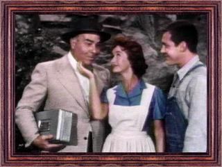 "Ben Welden, Noel Neill, and Jack Larson in a scene from ""Disappearing Lois"""
