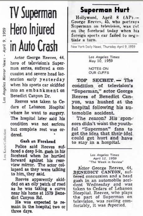 George Reeves Car Accidents