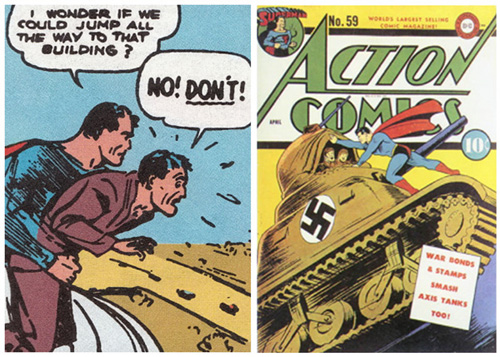 1938 superman makes his first published appearance action comics 1