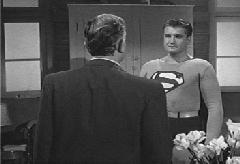 Superman confronts Burt Burnside and destroys the revealing negative with his x-ray vision.